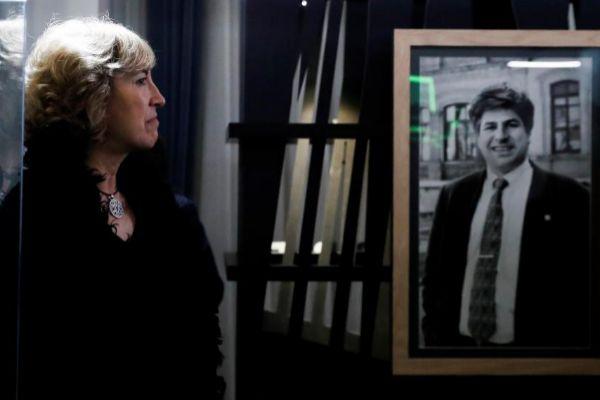 La presidenta de la Fundación Gregorio Ordóñez, Ana Iríbar, viuda...