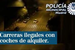 Nueve detenidos por participar en carreras ilegales con coches eléctricos de alquiler