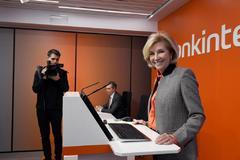 La consejera delegada de Bankinter, María Dolores Dancausa, durante la presentación de resultados del grupo.