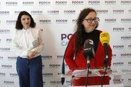 Noelia Bail, en una rueda de prensa celebrada en Barcelona la pasada primavera.