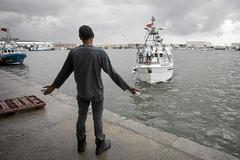 """El pesquero """"Muñi"""", uno de los pesqueros gaditanos que acaban de estrenar el nuevo acuerdo de pesca entre la Unión Europea y Marruecos y que han denunciado que otros pesqueros marroquíes les han impedido faenar con normalidad en el caladero que comparten."""