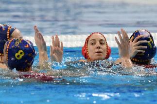 Las jugadoras españolas celebran su victoria sobre Hungría.