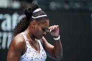 Serena Williams, este viernes en el Abierto de Australia.