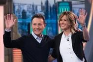 Matías Prats y Susanna Griso celebran el 30 aniversario de Antena 3 en El Hormiguero.