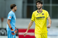 Fer Niño, en un partido con el Villarreal C.