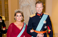 El Gran Duque de Luxemburgo Enrique y su esposa la Gran Duquesa de Luxemburgo María Teresa.