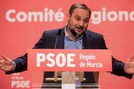 José Luis Ábalos, en un acto del PSOE celebrado recientemente en Murcia.