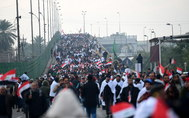 <HIT>Baghdad</HIT> (Iraq).- Supporters of Iraqi Shiite cleric Muqtada al-Sadr walk during a demonstration in central <HIT>Baghdad</HIT>, Iraq, 24 January 2020. Thousands of Muqtada al-Sadr followers and supporters of Iran-backed Shiite armed groups participated in a demonstration, calling for the US to end its military presence in Iraq, since the Iraqi Parliament approved a measure calling for United States troops to leave. The protest was called by Iraqi Shia cleric Muqtada al-Sadr. (Protestas, Estados Unidos, Bagdad) EPA/