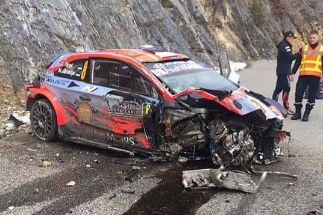Terrible accidente de Tanak a 170 km/h