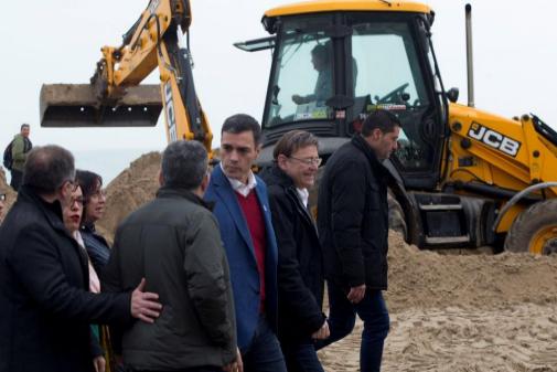 Pedro Sánchez?visita zonas de Castellón afectadas por el temporal.