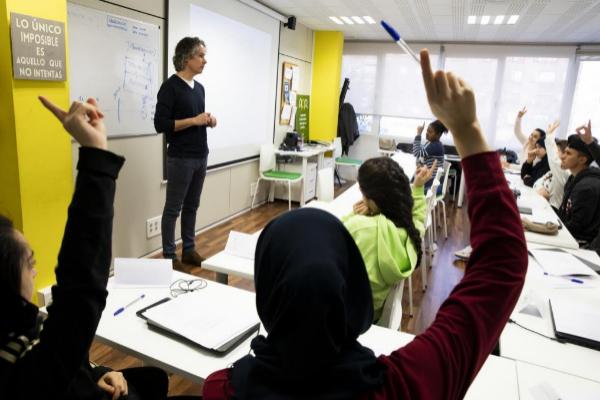 Clase de formación y 'coaching' del proyecto Jóvenes x empleo.