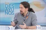 Pablo Iglesias en Los Desayunos de TVE, el 7 de junio junio de 2018.