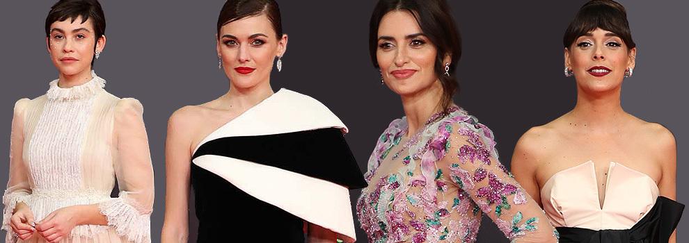 Las flores de Penélope desbancan al blanco y negro de las otras protagonistas de la alfombra roja de los  Goya