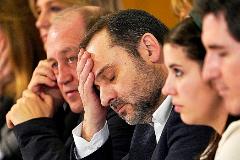 José Luis Ábalos, ayer, en el Comité Nacional del PSdeG, en Santiago de Compostela.