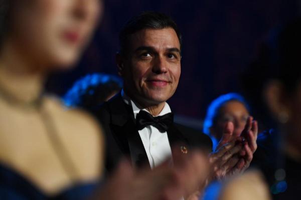 Pedro Sánchez, en la ceremonia de los Goya en Málaga, el sábado.