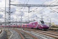 Imagen de un tren AVLO de Renfe.