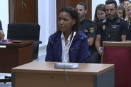 Ana Julia Quezada declara entre lágrimas el pasado septiembre en la Audiencia Provincial de Almería.