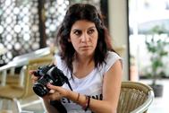 Profesora, activista y bloguera. Lina Ben Mhenni, en una imagen de 2013