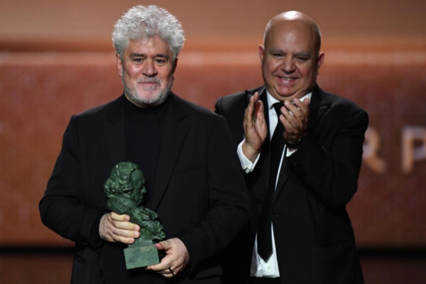 Pedro y Agustín Almodóvar, en la pasada gala de los Premios Goya.