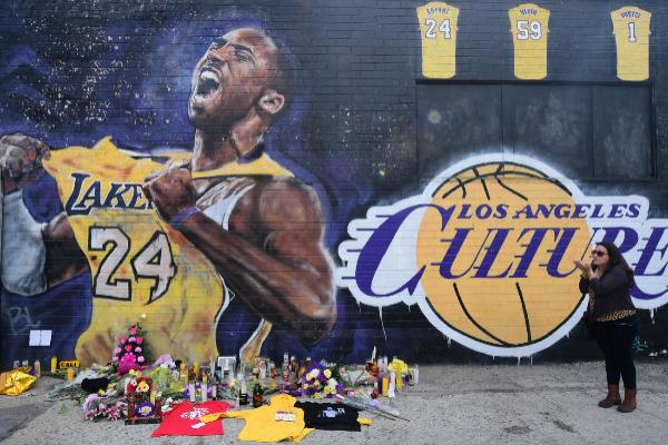 Un mural de Kobe Bryant en Los Angeles.