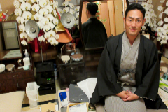 El actor de kabuki Kankuro Nakamura, en su camerino.