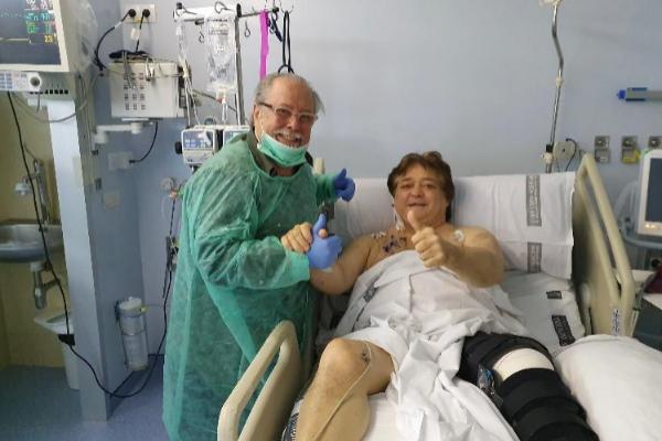 """Vicente Ruiz """"El Soro"""", en el Hospital Clínico de Valencia."""