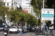 Carteles de entrada a Madrid Central