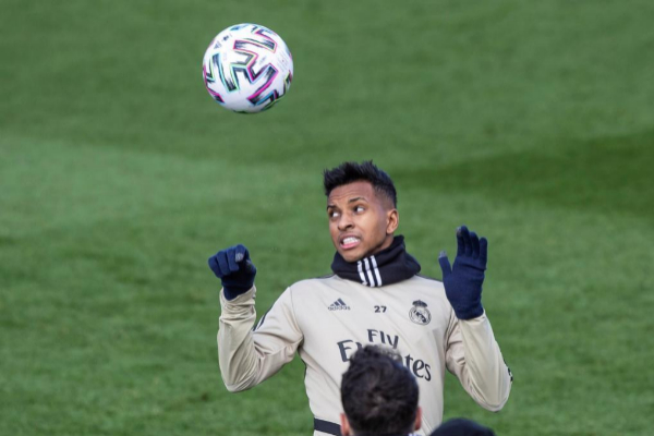 El delantero brasileño del Real Madrid Rodrygo Goes