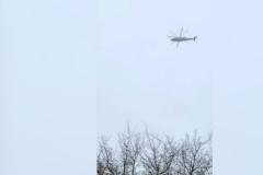 Un vecino grabó el helicóptero 15 minutos antes de desaparecer en el radar