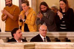 Antonio <HIT>Moreno</HIT> 28.01.2020 Barcelona Cataluña. Oriol <HIT>Junqueras</HIT> en la comisión de investigación del 155 en el Parlament .