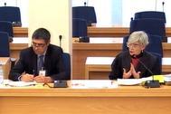 Josep Lluís Trapero, junto a su abogada Olga Tubau, en una sesión del juicio.