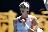 Melbourne (Australia).- Garbine <HIT>Muguruza</HIT> of Spain reacts after winning against Anastasia Pavlyuchenkova of Russia during a Women's Singles quarter-final match on day 10 of the Australian Open tennis tournament at Melbourne Park in Melbourne, Australia, 29 January 2020. (Tenis, Abierto, Rusia, España) EPA/ EDITORIAL USE ONLY AUSTRALIA AND NEW ZEALAND OUT
