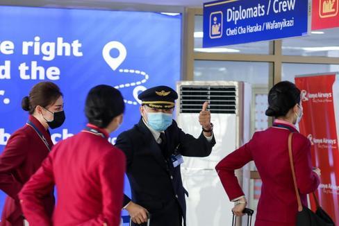 Detección del virus del coronavirus en el aeropuerto internacional Jomo Kenyatta de Nairobi.