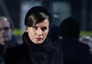 Letizia en la ceremonia de conmemoración del 75º aniversario de la liberación de Auschwitz-Birkenau