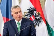Prague (Czech Republic).- Hungarian Prime Minister <HIT>Viktor</HIT> <HIT>Orban</HIT> attends a press conference after the Visegrad Group (V4) and Austria summit in Prague, Czech Republic, 16 January 2020. (República Checa, Praga) EPA/