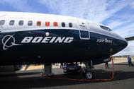 Un avión de <HIT>Boeing</HIT>, modelo 737 MAX.