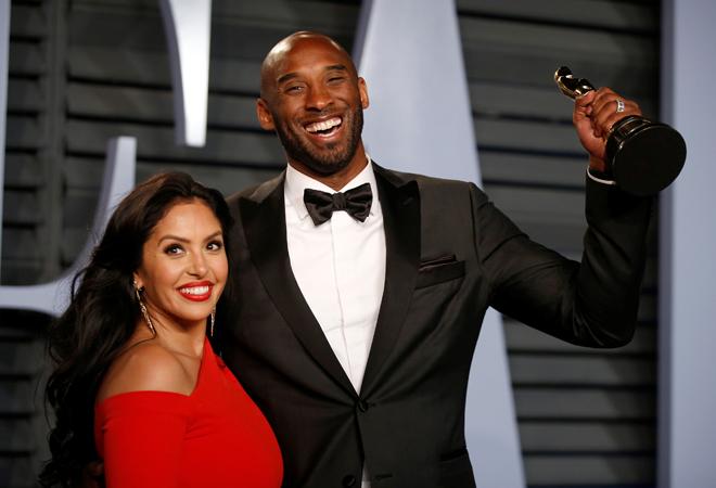 Kobe Bryant y su mujer, Vanessa, en los Oscar de 2018.