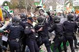 Los disturbios en la manifestación del campo extremeño se saldan con 16 heridos y un detenido