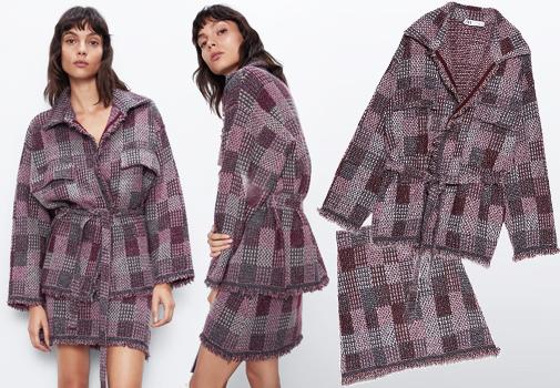 La chaqueta tiene un precio de 39,90 euros y la falda de 22,95 euros.