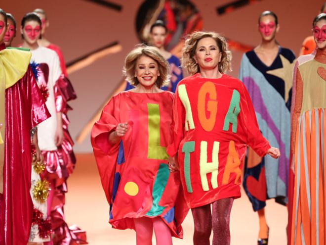 Ágatha y Mila Ximénez, en el desfile de la diseñadora.