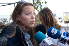 Daniela Ugueto, hermana de la madre detenida por homicidio en Logroño, este jueves.