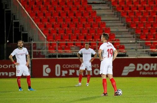 GRAF1752. BURGOS.- Jugadores del Sevilla durante el partido de octavos...