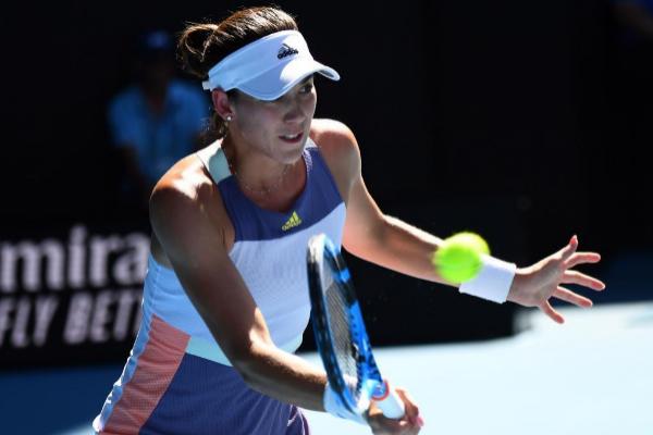 Garbiñe Muguruza en el Open de Australia