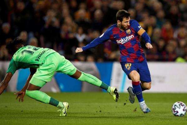 El delantero del FC Barcelona, Leo Messi