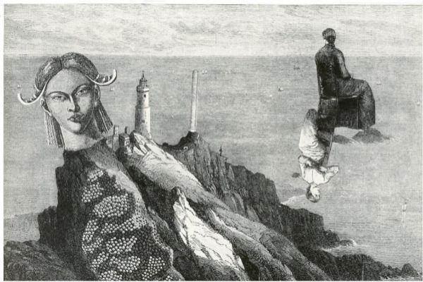 Collage de Valentien Penrose, 'Dons des féminines' (1951).