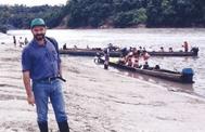 Un joven José Luis Ábalos, en uno de sus viajes a América Latina.