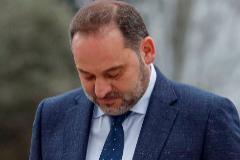 El secretario de Organización del PSOE, José Luis Ábalos, en un acto, este jueves, en Madrid.