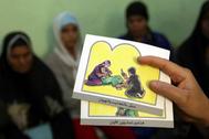Campaña contra la práctica de la mutilación genital en Egipto.