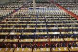 Imagen de la prueba de acceso a Correos que el mes pasado tuvo lugar en Silleda (Pontevedra) y en la que se inscribieron más de 10.000 personas