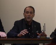 El maestro Luis Francisco Esplá en Las Ventas en la primera conferencia del ciclo de la peña 'Los de José y Juan'.